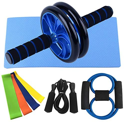 fitness kit with ab wheel roller yoga jump rope skipping